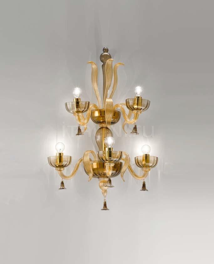 Настенный светильник Soffio 1524/A3+2 D FU.ORO Sylcom