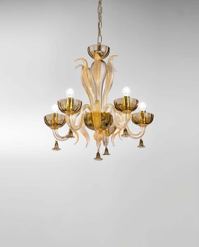 Подвесной светильник Soffio 1520/5 D FU.ORO Sylcom