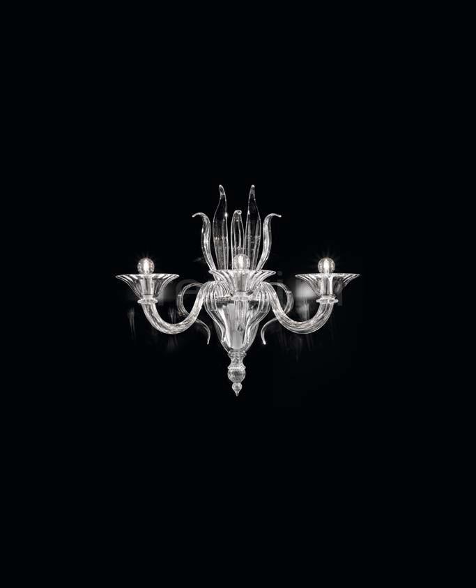 Настенный светильник Soffio 1432/A3 K CR Sylcom
