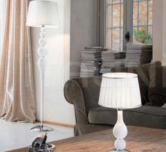 Настольный светильник Soffio 1422/20 K BL.CR + TOP 1422/20 ARG фабрика Sylcom