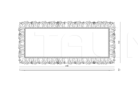 Настенное зеркало Bird IPE Cavalli (Visionnaire)