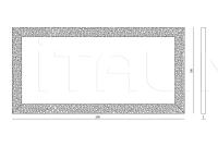 Настенное зеркало Thelma IPE Cavalli (Visionnaire)