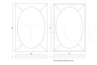 Настенное зеркало Tilia IPE Cavalli (Visionnaire)