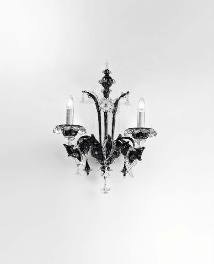 Настенный светильник Scena 1474/A2 PA NE.CR Sylcom