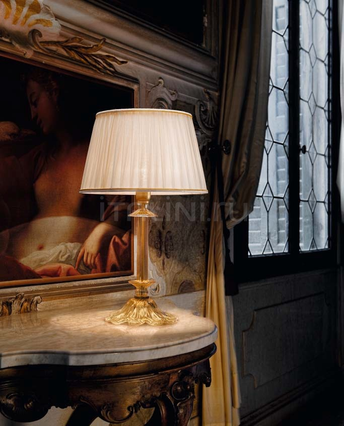 Настольный светильник Scena 1476 PO CR.ORO + TOP 1422/35 ORO Sylcom