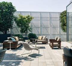 Итальянские уличные кресла - Кресло Alison Iroko Outdoor фабрика Minotti