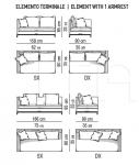 Модульный диван Andersen Slim 90 Minotti