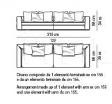 Модульный диван Powell Minotti
