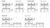 Модульный диван Williams Minotti