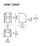 Стул с подлокотниками Loving-Lounge Minotti