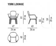 Кресло York lounge Minotti
