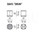 "Пуф Davis ""drum"" Davis ""drum"" Davis ""drum"" Minotti"