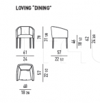 Стул с подлокотниками Loving-Dining Minotti
