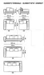 Модульный диван White Minotti