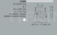 Настенный светильник 37.0848 Banci