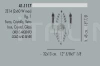 Настенный светильник 41.1117 Banci