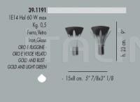Настенный светильник 39.1191 Banci