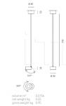 Подвесной светильник FAVILLA Axo Light