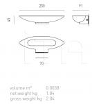 Настенный светильник SINUS Axo Light