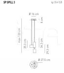 Подвесной светильник SPILLRAY 3 Axo Light