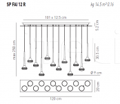 Подвесной светильник FAIRY 12 R Axo Light