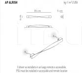 Настенный светильник ALRISHA Axo Light