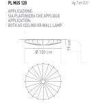 Потолочный светильник MUSE 120 Axo Light