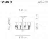 Подвесной светильник SUBZERO 10 Axo Light