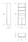 Книжный стеллаж Gramercy LBGRAMER02 Smania