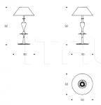 Настольная лампа Bastet LMBASTET01 Smania