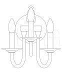Настенный светильник 375/AP3 Italamp