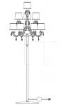 Торшер 445/CDF-6+3+1 Italamp