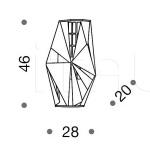 Потолочный светильник Crystal rock 476/4A IDL Export