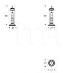 Настольная лампа Tower Smania