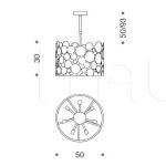 Подвесной светильник Bubbles 427/6 IDL Export
