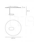 Настенно-потолочный светильник Droplet mini Artemide