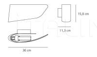 Настенный светильник Eurialo Artemide