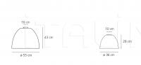 Потолочный светильник Nur mini gloss Artemide
