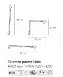 Настенный светильник Tolomeo Artemide