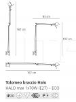 Настенный светильник Tolomeo braccio Artemide