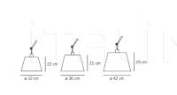 Настенный светильник Tolomeo mega Artemide