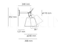 Настенный светильник Tolomeo parete diffusore Artemide