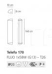 Настенный светильник Telefo Artemide