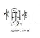 Барный стул CAGE Meridiani