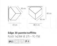 Настенно-потолочный светильник Edge Artemide