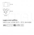 Потолочный светильник Logico soffitto Artemide