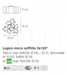 Потолочный светильник Logico soffitto 3x120° Artemide