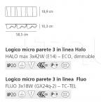 Настенный светильник Logico parete 3 in linea Artemide
