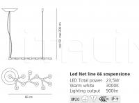 Подвесной светильник Led Net line Artemide