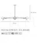 Подвесной светильник Tolomeo sospensione due bracci Artemide